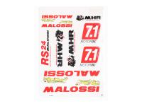 Malossi Scooter High-Performance Italian Racing Parts Team Malossi Complete Replica Sticker Set Malossi DIN-A3