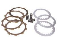 1E40MB Malossi Minarelli Engine Parts - Clutch plate kit Malossi 4-disc clutch for Minarelli AM, Generic, KSR-Moto, Keeway, Motobi, Ride, 1E40MA, 1E40MB