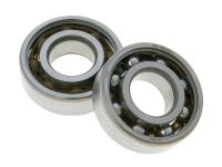 crankshaft bearing set Malossi MHR 20x47x14 SKF (6204 TN9/HN3C4) for Minarelli, Derbi EBE, EBS, D50B0