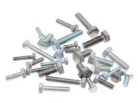 101 Octane Scooter Parts & Accessories Hex Cap Screws Tap Bolts DIN933 Zinc Plated or Stainless Steel - Universal Scooter Parts Applications