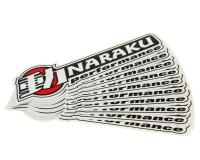 Naraku Performance Parts Sticker decal set 100x30mm 10pcs