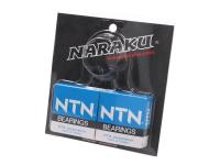 Naraku Scooter Racing Parts Complete Crankshaft Bearing Set Naraku Heavy Duty including oil seals for Peugeot Vertical Euro 1 Scooters