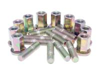 Naraku Scooter Exhaust Stud Bolt Set Naraku M8 thread incl. nuts (20mm length) Universal Scooter Parts - 10 pcs each