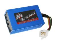 Naraku Performance CDI No-Rev Adjustable Scooter Racing Ignition Box for Kymco Super 9, SYM Fiddle, Honda Dio, PGO, Genuine Scooters Roughhouse 50cc