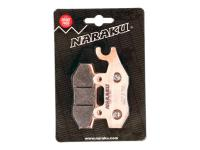Naraku Brake Pads - Sintered Motorbike HQ Replacement Pads for Aprilia, CF Moto, Keeway, Kymco, Peugeot, TGB