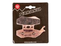 brake pads Naraku sintered for Aprilia, Gilera, MBK, Yamaha