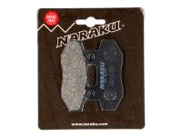 brake pads Naraku organic for Peugeot Speedfight 3, Hyosung GT, Adly, SYM
