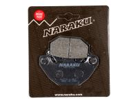 brake pads Naraku organic for Kymco Agility, MXU, People S, DJ, Super 8, SYM