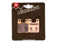 brake pads Naraku sintered for Derbi, Gilera, Italjet, Peugeot