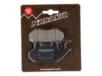 Naraku Organic Brake Pads for Genuine Scooters Roughhouse, PGO, SYM HD200, SYM Fiddle, TGB 50cc, Peugeot Scooters