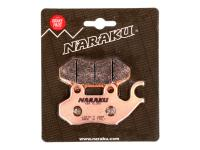 Naraku Brake Pads - HQ Sintered Scooter Pads for TGB, PGO, Genuine Roughhouse R50, SYM Fiddle, SYM HD 200, SYM Citycom 300