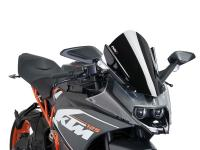 windshield Puig Z-Racing black for KTM RC 125, 200, 390 14-