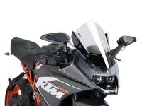 windshield Puig Z-Racing transparent for KTM RC 125, 200, 390 14-