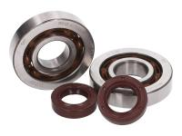 crankshaft bearing set R&D (SKF) optimized lubrication (-1.1mm) incl. HQ Corteco oil seals for Piaggio