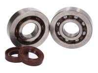 crankshaft bearing set R&D (SKF) polyamide cage incl. HQ Corteco oil seals for Piaggio