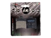 RMS Motorcycle Parts Replacement Brake Pads Organic for Aprilia, Benelli, CPI, Malaguti, Italjet, Piaggio, Yamaha Zuma Scooters