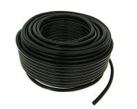 fuel hose black chloroprene rubber 50m reel - 6mm inner, 10mm outer diameter