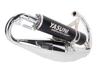 exhaust Yasuni Scooter R black chromed for Minarelli vertical