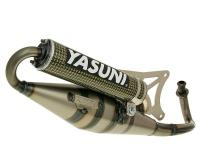 exhaust Yasuni Scooter Z yellow carbon fiber for Piaggio