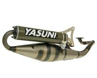 exhaust Yasuni Scooter Z yellow carbon fiber for Minarelli horizontal