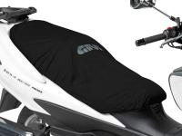 GIVI Universal Scooter Seat Cover Fully Removable, Waterproof, in Black by GIVI Motorcycle Accessories