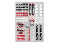 sticker set Naraku 29.7x21cm 30-piece transparent