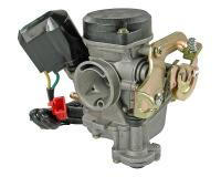 GY6 50cc Carburetor Replacement for 4-stroke 139QMB/QMA, QMB139 50cc by 101 Octane Scooter Parts