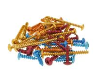 Universal Scooter Parts Fairing Screws Anodized Aluminum - Set of 12 pcs - Assorted Colors