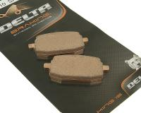 Delta Braking Brake Pads for Scooters Sintered DB2012SR for Adly, Baja, Boatian QMB139, Genuine Motorscooters Roughhouse, PGO PMX, TaoTao, TNG, SunL 50cc Scooters by Delta Braking