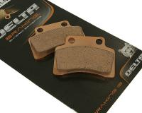 Delta Braking Scooter Brake Pads Sintered DB2018SR for 50cc 2T and 4T including Benelli, Boatian, Keeway, GY6 50, 139QMB, CPI 50cc by Delta Braking