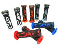 handlebar rubber grip set Flame various colors