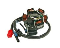GY6 6 Coil Alternator Stator for 125cc and 150cc 4-stroke engines QMI152/157 QMJ152/157 by 101 Octane.