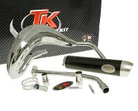 exhaust Turbo Kit Bufanda RQ chrome for Yamaha DT50 (03-), MBK X-Limit (03-), Malaguti