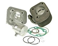 Malossi 70cc Cylinder Kit 10mm piston for Minarelli Horizontal AC Yamaha Vino, Yamaha Zuma, Genuine Buddy 50, Genuine Rattler 50, 317083