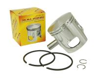 piston kit Malossi 70cc 47.4mm oversize diameter, 12mm wrist pin