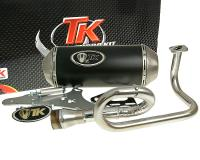 - QMB139 GMax Performance Exhaust System by Turbo Kit - GMax 4T Race Muffler for GY6, 139QMB 50cc China Scooters