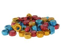 Vicma Aftermarket Motorcycle and Scooter Parts Anodized Nut Sets in Aluminum Available in Red, Gold, Blue M5-M8 by Vparts Replacement Scooter Parts