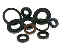 101 Octane Scooter and Moped Oil Seal / Crankshaft Seal - Various Sizes and Applications QMB139, GY6 150cc, VOG 250, Honda Ruckus, CN250, Minarelli, Morini, DiTech, Piaggio, Vespa Scooters