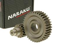 secondary transmission gear up kit Naraku racing 16/37 +25% for GY6 125/150cc 152/157QMI