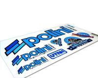 Polini Scooter High-Performance Parts and Accessories Brand Sticker Set Replica Polini Scooter Team