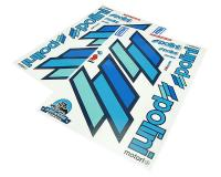Polini Racing Team Sticker Decal Set for Scooters DIN-A2 Clear See Through by Polini Performance Scooter Parts