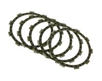 clutch plates - set of 5 pcs for Yamaha DT50, TZR50 (Minarelli AM engines)
