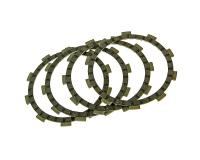 clutch plates - set of 4 pcs for Minarelli AM6 50