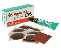 Motorcycle & Scooter Emergency Repair Kit - Must Have Tube Tire Repair Kit - Compact Portable Scooter, Moped Tube Kit