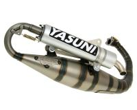 Carrera 16 Yasuni Exhaust System for Minarelli Vertical Scooter Engines in Aluminum Complete Yasuni Racing Muffler for Yamaha Zuma 2001 Vertical, Adly, Yamaha BWs Scooters