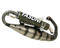 exhaust Yasuni Carrera 16 yellow carbon fiber for Minarelli vertical
