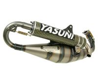 exhaust Yasuni Carrera 21 yellow carbon fiber for Piaggio