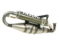 exhaust Yasuni Carrera 20 yellow carbon fiber for Minarelli horizontal