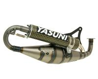 exhaust Yasuni Carrera 21 yellow carbon fiber for Minarelli horizontal