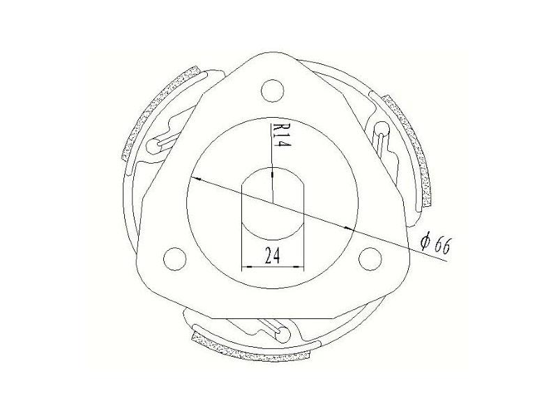 Kupplung Maxi für Roller 125//150ccm GY6 Honda Malaguti